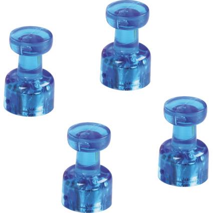 magnetoplan Magnet-Memohalter, Durchmesser: 18 mm, blau