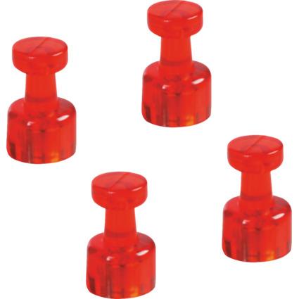 magnetoplan Magnet-Memohalter, Durchmesser: 18 mm, rot