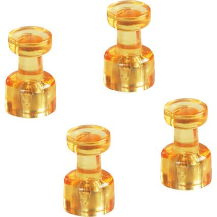 magnetoplan Magnet-Memohalter, Durchmesser: 18 mm, gelb