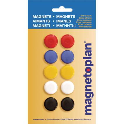 magnetoplan Signalmagnete 20 mm, farbig sortiert