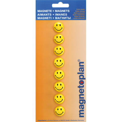 "magnetoplan Haftmagnet ""Smiley"", Durchmesser: 20 mm"