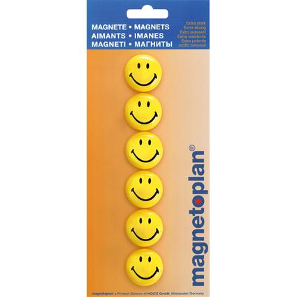 "magnetoplan Haftmagnet ""Smiley"", Durchmesser: 30 mm"