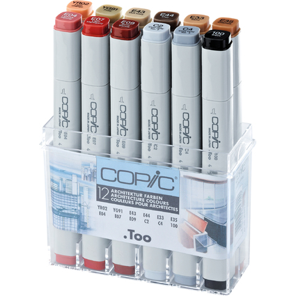 COPIC Profi Marker, 12er Set Architekturfarben