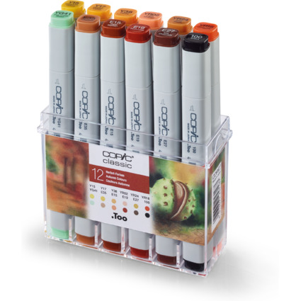 COPIC Profi Marker, 12er Set Herbstfarben