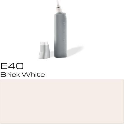 COPIC Nachfülltank für COPIC Marker, brick white E-40