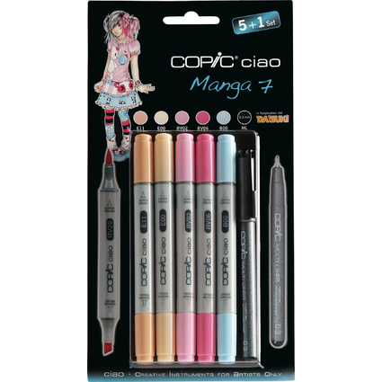 COPIC Hobbymarker ciao 5+1 Set, Manga 7