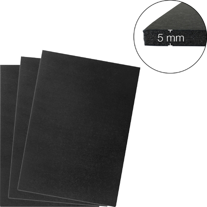 transotype Foam Boards, 297 x 420 mm (A3), schwarz, 5 mm