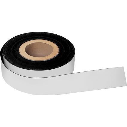 magnetoplan Magnetband, PVC, weiß, 20 mm x 30 m