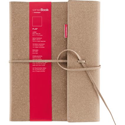 "transotype Notizbuch ""senseBook FLAP"", Large, blanko"