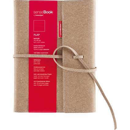 "transotype Notizbuch ""senseBook FLAP"", Medium, blanko"