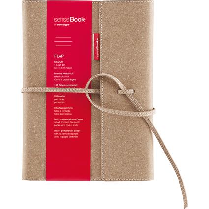 "transotype Notizbuch ""senseBook FLAP"", Medium, liniert"