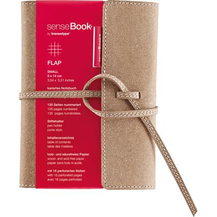 "transotype Notizbuch ""senseBook FLAP"", Small, kariert"