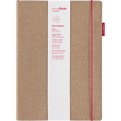 "transotype Notizbuch ""senseBook RED RUBBER"", Large, kariert"
