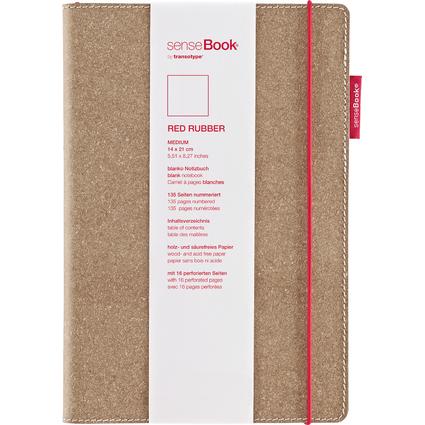 "transotype Notizbuch ""senseBook RED RUBBER"", Medium, blanko"