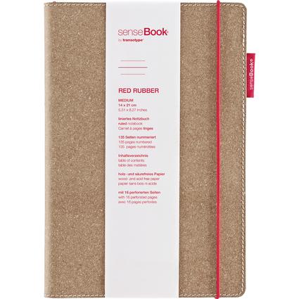 """transotype Notizbuch """"senseBook RED RUBBER"""", Medium, liniert"""