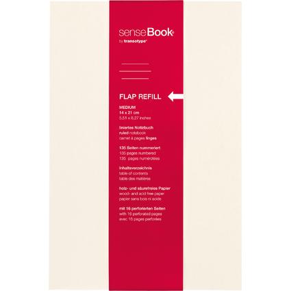 "transotype Refill für ""senseBook FLAP"", Medium, liniert"