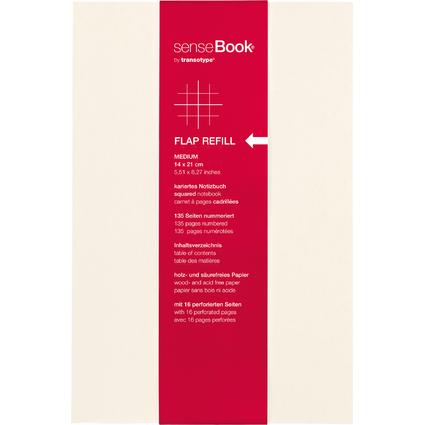 "transotype Refill für ""senseBook FLAP"", Medium, kariert"