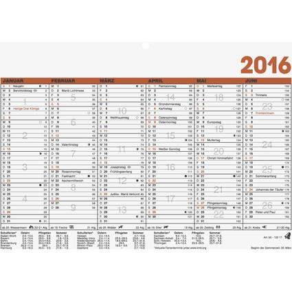 "Glocken Tischkalender ""Tafelkalender"", 2017, DIN A5 quer"