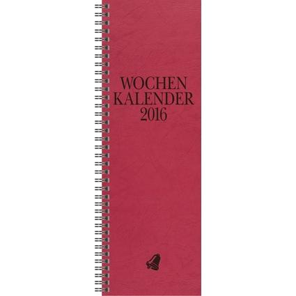 "Glocken Tischkalender ""Vormerkkalender"", 2017, rot"