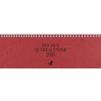 """Glocken Tischkalender """"Querterminbuch"""", 2017, rot"""