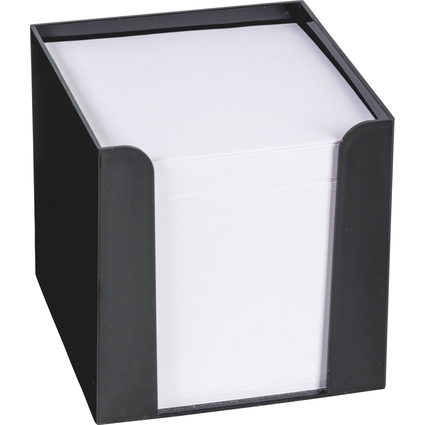 KÖNIG & EBHARDT Zettelbox, 95 x 95 mm, Kunststoff, schwarz