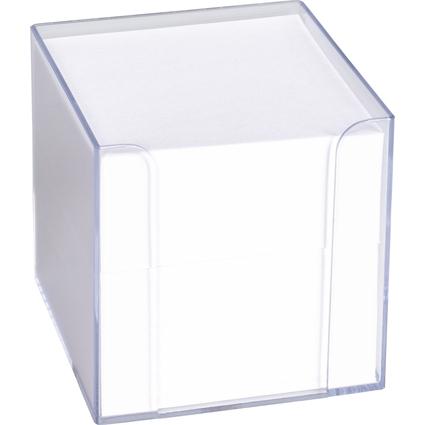 KÖNIG & EBHARDT Zettelbox, 95 x 95 mm, transparent