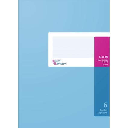 KÖNIG & EBHARDT Spaltenbuch DIN A4, 6 Spalten, 40 Blatt