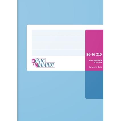 KÖNIG & EBHARDT Geschäftsbuch, DIN A6, kariert, 32 Blatt