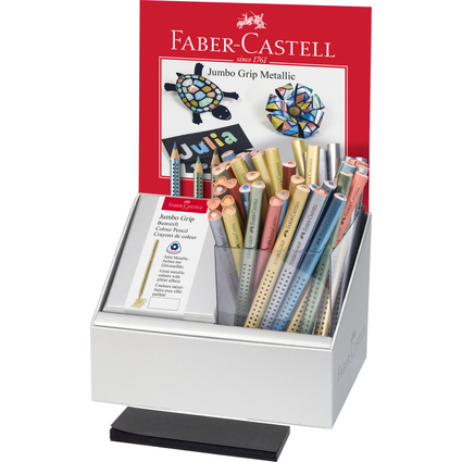 FABER-CASTELL Dreikant-Buntstift Jumbo GRIP, im Display