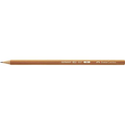 FABER-CASTELL Bleistift 1117, sechseckig, Härtegrad: H