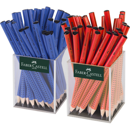 FABER-CASTELL Bleistift Jumbo GRIP rot/blau, im Köcher