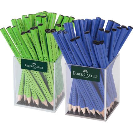 FABER-CASTELL Bleistift Jumbo GRIP blau/hellgrün, im Köcher