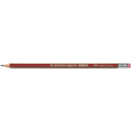 FABER-CASTELL Bleistift DESSIN 2001, Härtegrad: HB