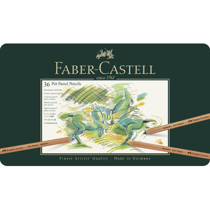 FABER-CASTELL Buntstifte PITT PASTELL, 36er Metalletui