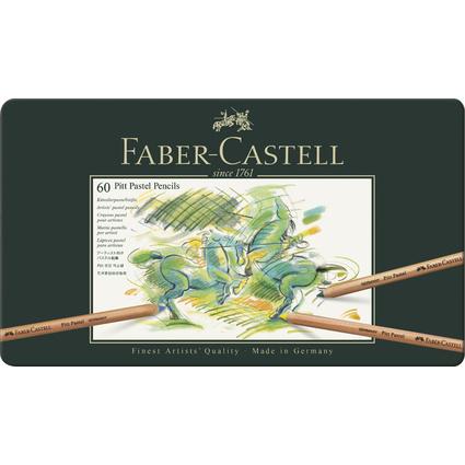 FABER-CASTELL Buntstifte PITT PASTELL, 60er Metalletui