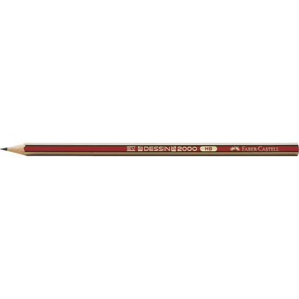 FABER-CASTELL Bleistift DESSIN 2000, Härtegrad: HB