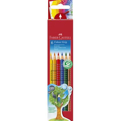 FABER-CASTELL Dreikant-Buntstifte Colour GRIP, 6er Etui