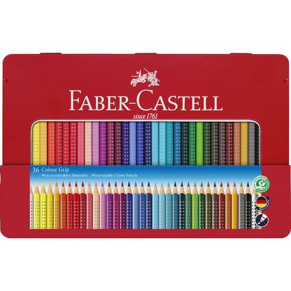 FABER-CASTELL Dreikant-Buntstifte Colour GRIP, 36er Etui