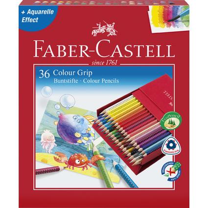 FABER-CASTELL Dreikant-Buntstifte Colour GRIP, Atelierbox