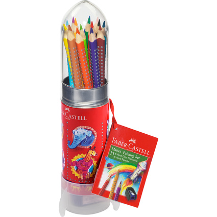 FABER-CASTELL Dreikant-Buntstifte Colour GRIP, Set Rakete
