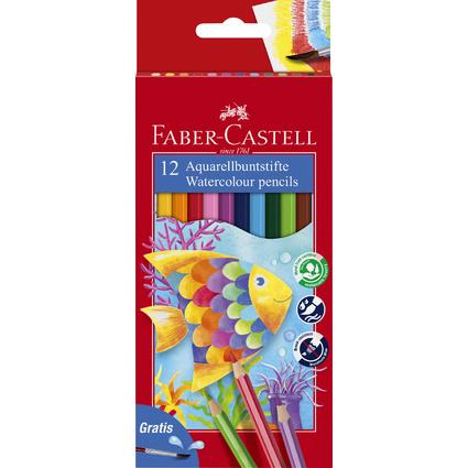 FABER-CASTELL Buntstifte KINDER-AQUARELL, 12er Kartonetui