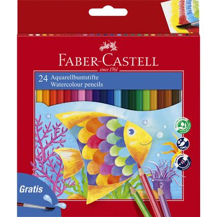 FABER-CASTELL Buntstifte KINDER-AQUARELL, 24er Kartonetui
