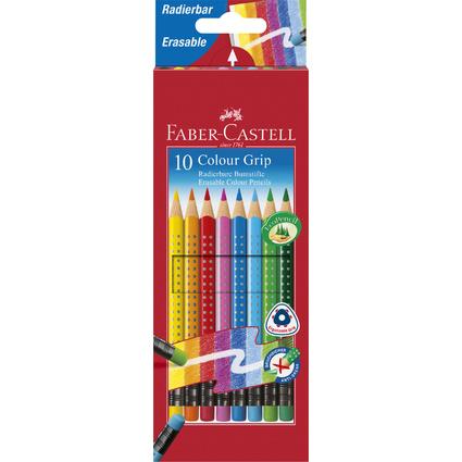 FABER-CASTELL Dreikant-Buntstifte Colour GRIP, 10er Etui