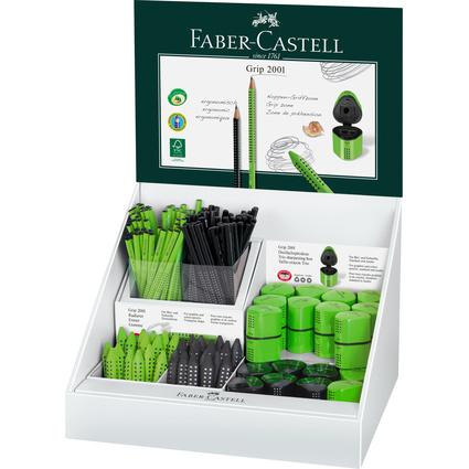 FABER-CASTELL Thekendisplay GRIP Familie, hellgrün/schwarz