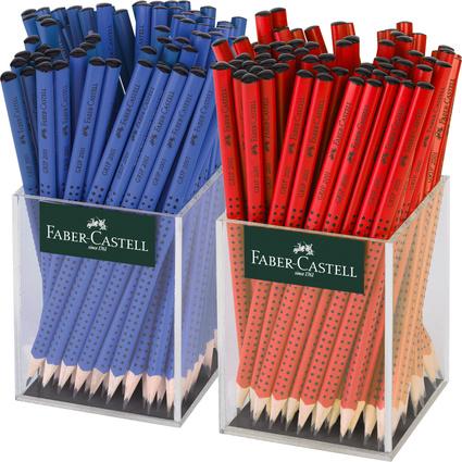 FABER-CASTELL Bleistift GRIP 2001 rot/blau, im Köcher