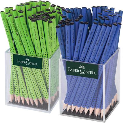 FABER-CASTELL Bleistift GRIP 2001 blau/hellgrün, im Köcher