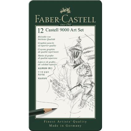 FABER-CASTELL Bleistift CASTELL 9000, 12er Art Set