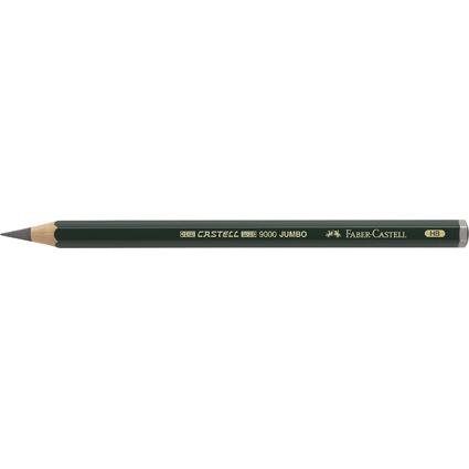 FABER-CASTELL Bleistift CASTELL 9000 Jumbo, Härtegrad: HB