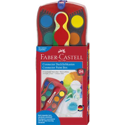 FABER-CASTELL Deckfarbkasten CONNECTOR, 24 Farben