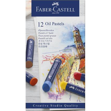 FABER-CASTELL Ölpastellkreiden STUDIO QUALITY, 12er Etui